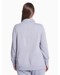 Calvin Klein - Purple Plus Size Performance Crossover Hem Thermal Pullover - Lyst