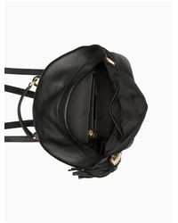 CALVIN KLEIN 205W39NYC - Black Pebble Leather Backpack - Lyst