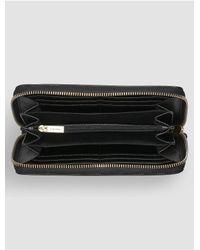 CALVIN KLEIN 205W39NYC - Black Lea Large Zip Wallet - Lyst