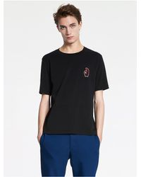 Calvin Klein - Black Pima Cotton Jersey Ok T-shirt for Men - Lyst