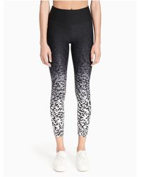 Calvin Klein Black Performance Ombré Lynx-print High-rise Cropped Leggings
