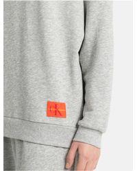 Calvin Klein - Gray Sweatshirt - Monogram - Lyst