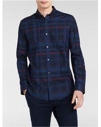Calvin Klein - Blue Classic Fit Tonal Chambray Shirt for Men - Lyst