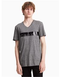 Calvin Klein - Gray Regular Fit Knock Out Logo T-shirt for Men - Lyst