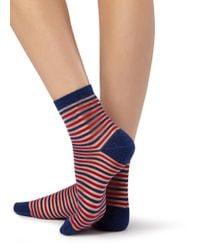 Calzedonia - Blue Short Trendy Patterned Socks - Lyst