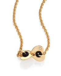Marc By Marc Jacobs | Metallic Round & Round Hole Hearted Pendant Necklace | Lyst