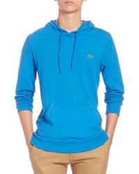 Lacoste | Blue Cotton Pullover Hoodie for Men | Lyst