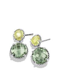 David Yurman - Green Chatelaine Double-drop Earrings With Prasiolite And Lemon Citrine - Lyst