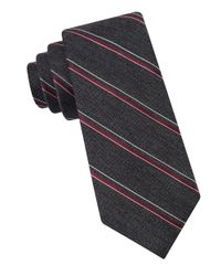 MICHAEL Michael Kors | Black Simplicity Striped Tie for Men | Lyst