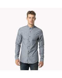 Tommy Hilfiger | Gray Andy Chambray Shirt for Men | Lyst