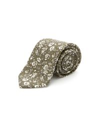 Drake's - Brown Silk Panama Print Tie for Men - Lyst