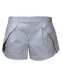 Thakoon Addition   Blue Striped Shorts   Lyst