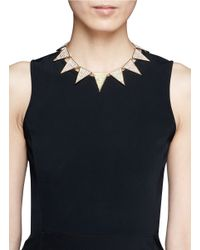 Eddie Borgo - Metallic Pavé Large Triangle Necklace - Lyst