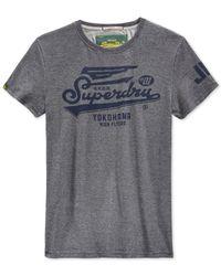 Superdry - Blue Logo Graphic T-shirt for Men - Lyst