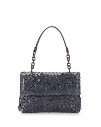 Bottega Veneta | Blue Olimpia Ayers Snakeskin Shoulder Bag | Lyst