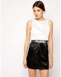 AX Paris - Black Dress With Overlay Top Detail - Lyst