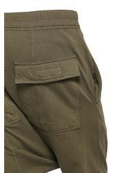 Rick Owens - Green Drkshdw Cotton Jersey Jogging Pants for Men - Lyst
