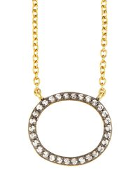 Freida Rothman - Metallic Open Oval Pendant Necklace - Lyst