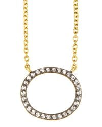 Freida Rothman | Metallic Open Oval Pendant Necklace | Lyst