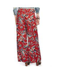Denim & Supply Ralph Lauren - Red Floral Smocked Wide-Leg Pant - Lyst