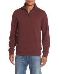 Bonobos Purple Slim Fit Quarter Zip Sweater for men