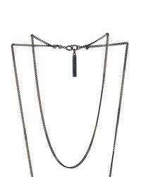 Givenchy | Gray Double-Chain Shark'S Tooth Necklace | Lyst