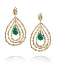 Rosantica | Green Daniela Gold-Dipped Agate Earrings | Lyst