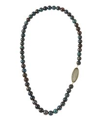 Elizabeth Showers | Blue Holey Surfer Azurite-Beaded Necklace W/ White Quartz & Pyrite Doublet | Lyst