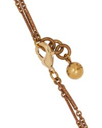 Lulu Frost - Metallic Bronzetone Crystal Necklace - Lyst