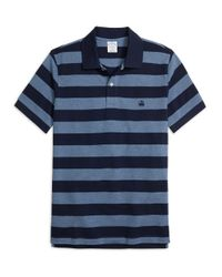 Brooks Brothers | Blue Slim Fit Wide Bar Stripe Polo Shirt for Men | Lyst
