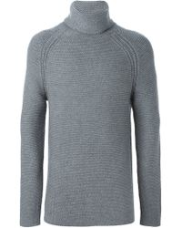 Helmut Lang - Gray Turtle Neck Sweater for Men - Lyst