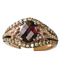 Le Vian | Metallic 14k Strawberry Gold Rhodolite And Diamond Ring | Lyst