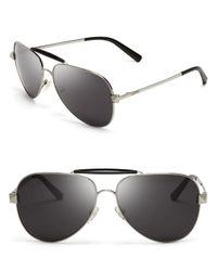 Valentino - Gray Rockstud Aviator Sunglasses for Men - Lyst