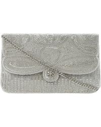 Dune - Metallic Eazie Beaded Clutch Bag - For Women - Lyst