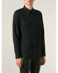 Saint Laurent - Black Classic Western Shirt for Men - Lyst