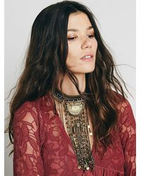 Free People - Blue Womens Exaggerated Fringe Collar - Lyst