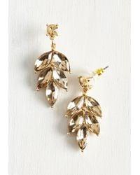 Ana Accessories Inc | Metallic Editor In Leaf Earrings | Lyst