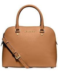 Michael Kors | Brown Michael Cindy Medium Dome Satchel | Lyst