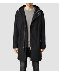 AllSaints | Black Ren Parka for Men | Lyst