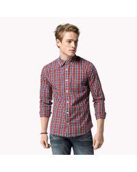 Tommy Hilfiger | Red Cotton Poplin Shirt for Men | Lyst