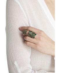 Bernard Delettrez | Green Leaf Articulated Ring | Lyst
