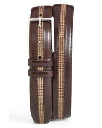 Mezlan | Brown Leather & Suede Belt for Men | Lyst