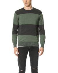 RVCA | Black Block Plate Crew Sweater for Men | Lyst