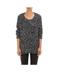 Vince - Gray Women's Speckled Boucle Sweater - Lyst