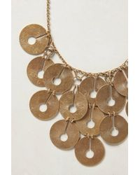Anthropologie - Metallic Dreamscape Bib Necklace - Lyst