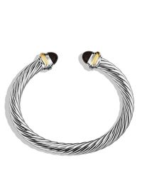 David Yurman | Metallic Cable Classics Bracelet With Black Onyx And Gold | Lyst