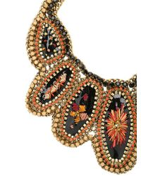 Sveva Collection | Multicolor Velvet Necklace | Lyst