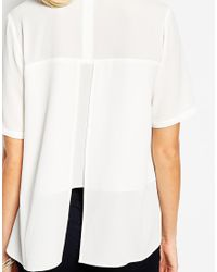 ASOS - Natural Maternity T-shirt With High Neck And Split Back - Lyst