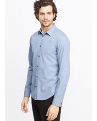Vince | Blue Lightly Textured Button Up for Men | Lyst
