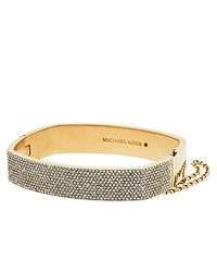 Michael Kors - Metallic Pavé Hinge Bangle - Lyst